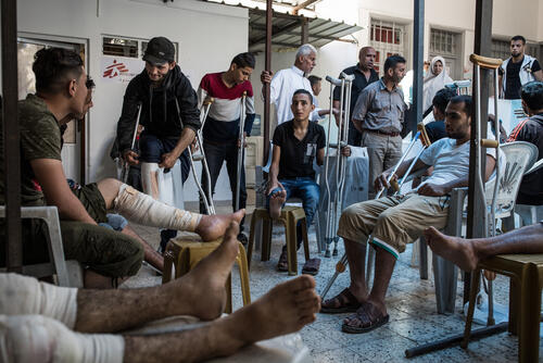 MSF's post-operative clinic in Gaza City