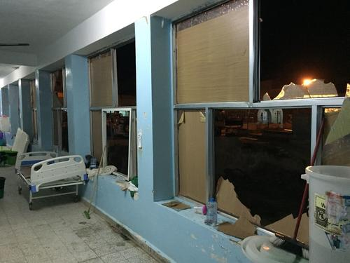 Al Gamhouri hospital in Hajjah city, damaged by airstrike