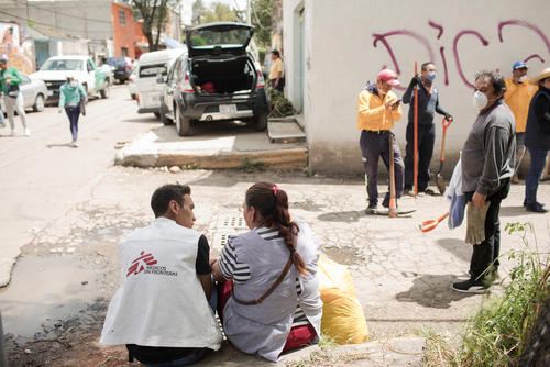 MSF provides psychosocial support to those affected by the earthquake in Mexico.