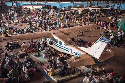 Mpoko airport IDP camp