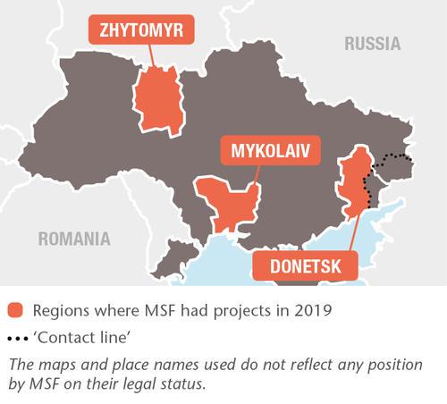 Ukraine MSF projects in 2019