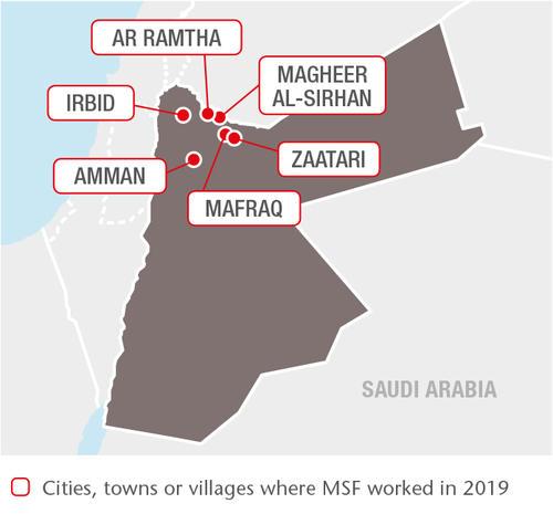 Jordan MSF projects in 2019
