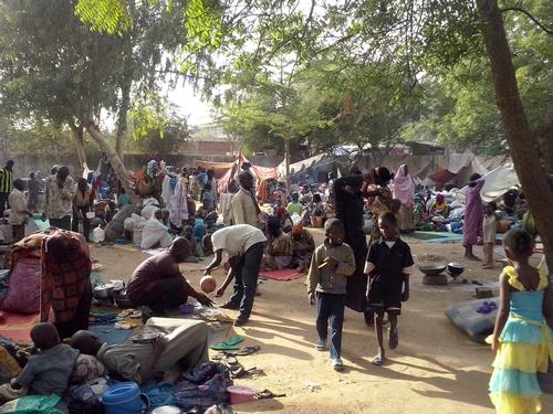 N'Djamena, Chagoua: transit center  for CAR refugees