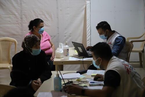 أنشطة أطباء بلا حدود في لبنان
