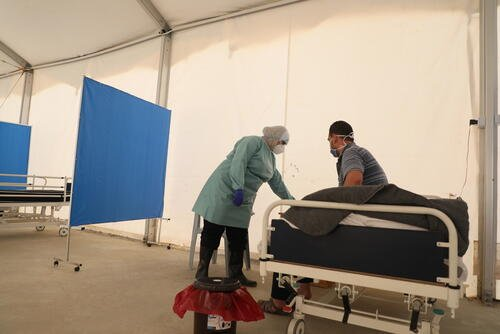 MSF COVID-19 intervention in Jordan's Zaatari camp