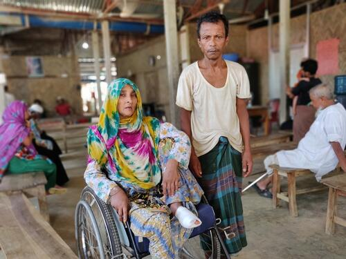 World Refugee Day: Nunahar and her husband Abdul Zoleel at the Kutupalong field hospital