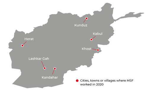 MSF activities in Afghanistan in 2020