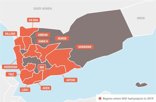 Yemen MSF projects in 2019