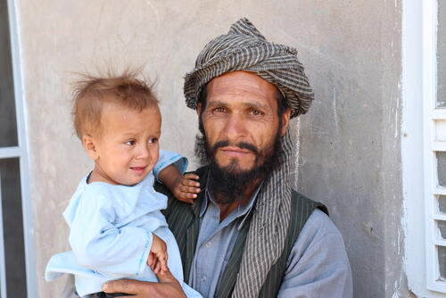 Displaced families in Herat