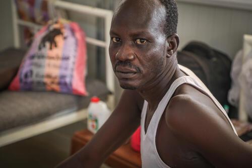 Arop Magut, a snakebite patient in the post-op ward
