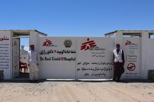 MSF COVID-19 treatment center in Gazer Gah Hospital