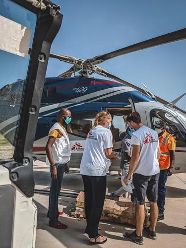 أنشطة أطباء بلا حدود في هايتي