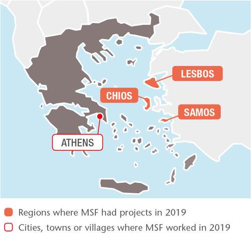 Greece MSF projects in 2019