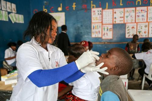 Zambia, cholera vaccination in Lusaka