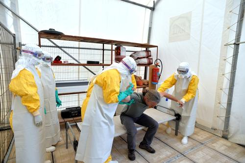 MSF Ebola Training Brussels 2014