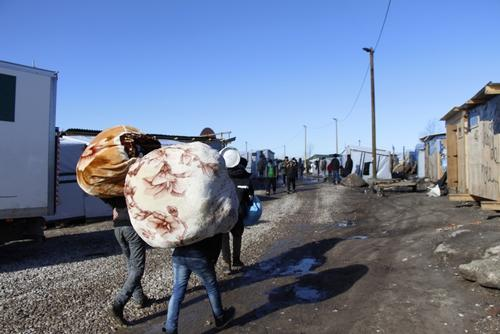 The refugees are being squeezed further north in Calais' Jungle
