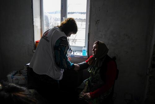 Eastern Ukraine Mobile Clinics - Vodiane Village