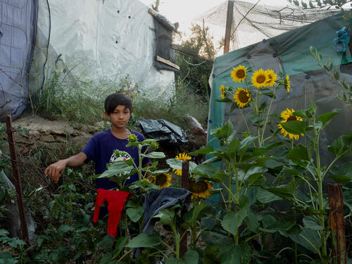 Yasin, 9 year-old boy in Moria