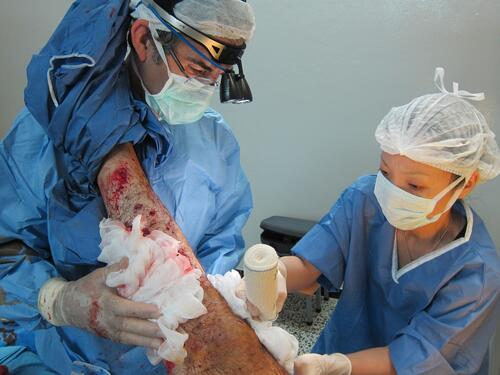 surgical care to victims of violence.