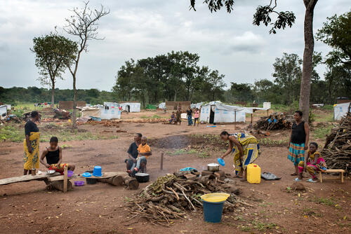 General view of the Adagom refugee settlement, run by UNHCR on the outskirts of Adagom village, in Cross River State.