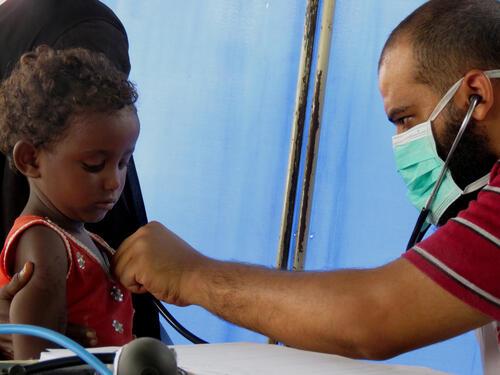 صحة الأطفال في مديرية عبس اليمنية
