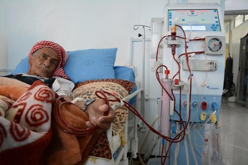 Dialysis center in Al-Jumhori hospital in Sana'a, Yemen
