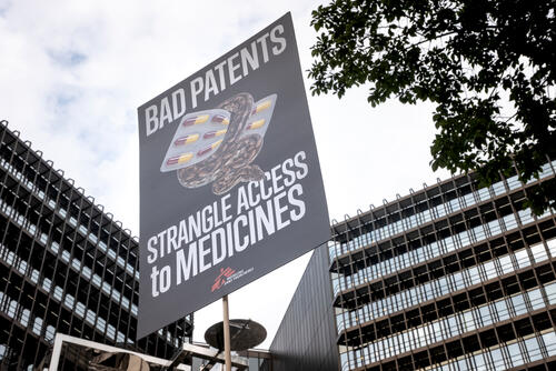 MSF protest against sofosbuvir patent in Munich