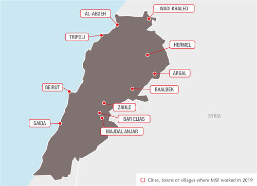 Lebanon MSF projects in 2019 - AR