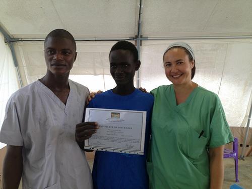 Dr Monica Arend-Trujillo in Bo, Sierra Leone