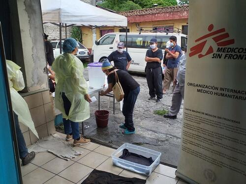 Emergency intervention for storm Amanda in San Salvador