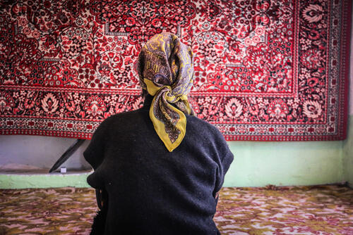 An MSF patient cured of MDR-TB in her house.