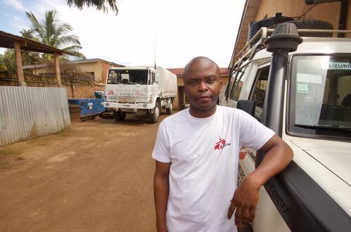 David Walubila Mwinyi, MSF Medical Data Supervisor South Kivu, DRC (c) Davide Scalenghe/MSF