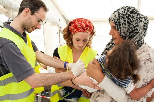 Vaccination Campaign in Idomeni, Greece.