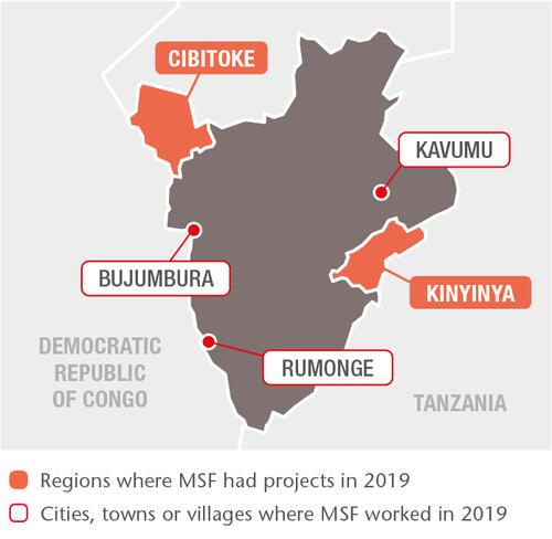 Burundi MSF projects in 2019