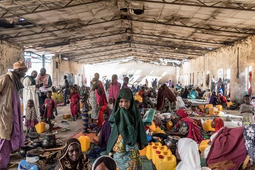IDP's camp in Monguno, Maiduguri State, Nigeria.