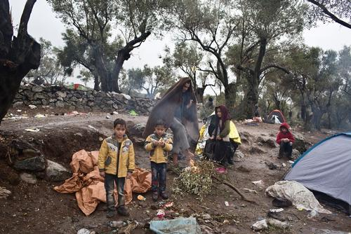 Moria Reception Centre in Lesbos, Greece