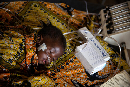 MSF Measles Intervention Bossangoa: Intensive Care Unit