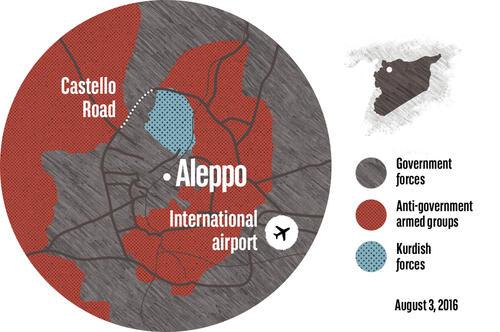 Syrienkarte - Aleppo