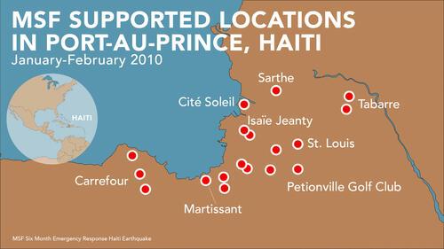 MSF Locations Haiti 2010 Earthquake Map