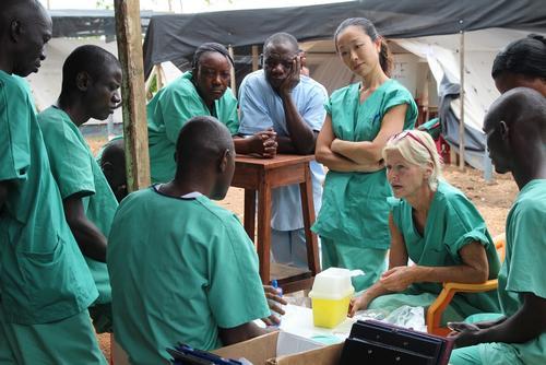The team in Kailahun, Sierra Leone - September 2014