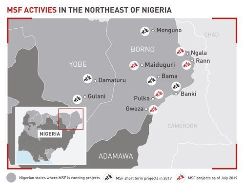 MSF Activities in the Northeast of Nigeria in 2019