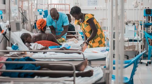 Guinea-Bissau. MSF emergency paediatric project in the national hospital in Bissau