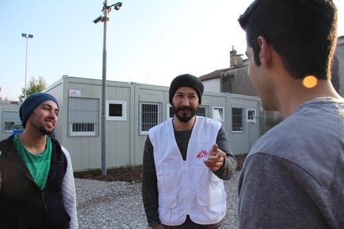 MSF Temporary Camp in Gorizia, Italy.