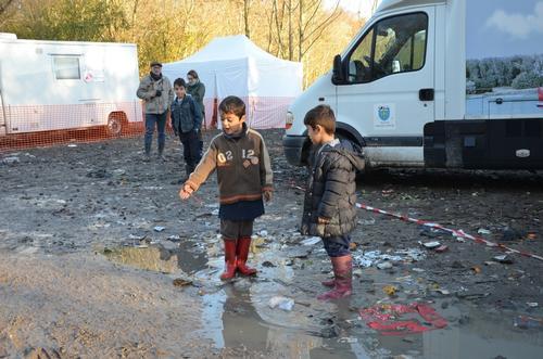 Refugees in DunKirk, France