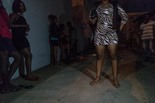 The corridor. Night clinic in Beira