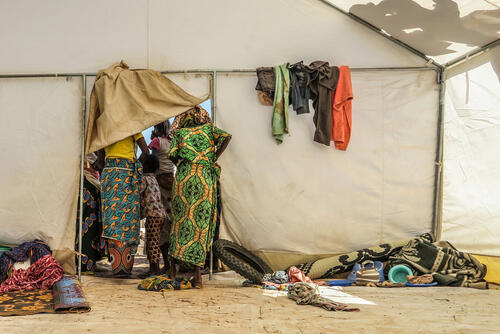A curious family in Barsalogho IDP camp