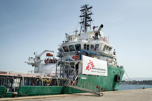 Mediterranean MSF Search and Rescue Boat Preparations