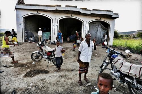 Internally displaced People form Taiz Enclave Yemen