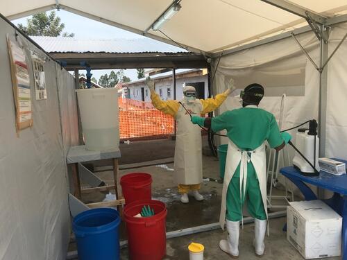 Ebola treatment center in Goma