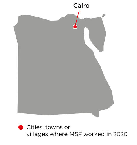 Map of MSF activities in 2020 in Egypt